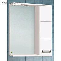 """Зеркало-шкаф """"Флора 600 Т со светом"""" белое, правое 15 см х 60 см х 70 см"""