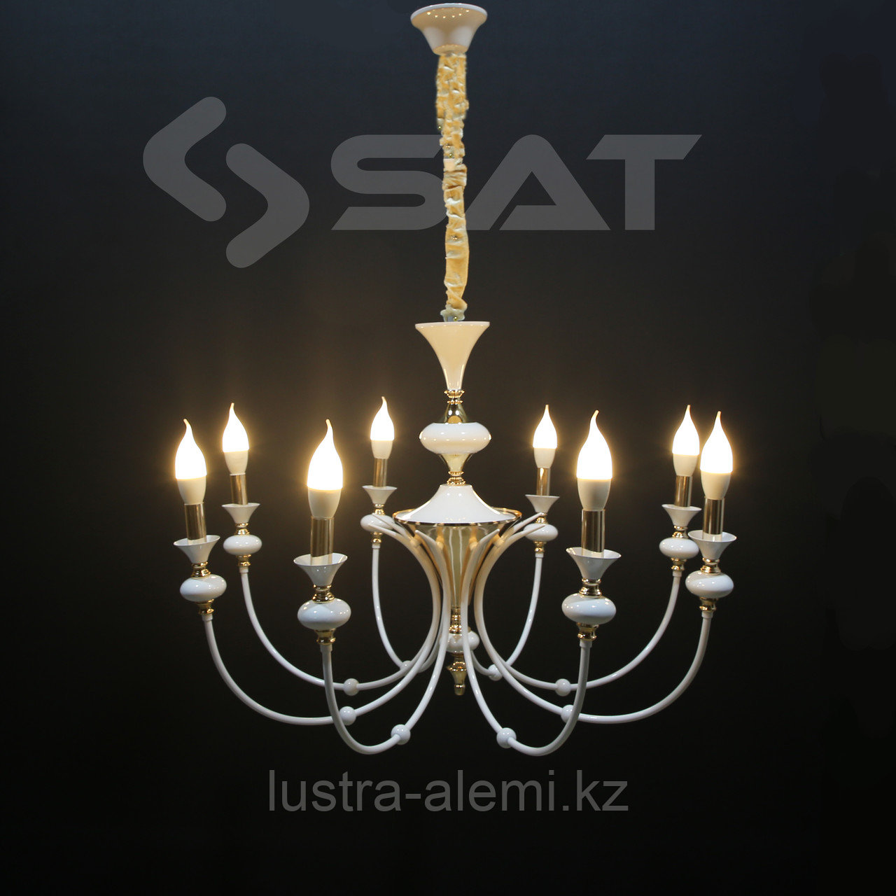 Люстра Нео-Классика 88130/8+4 WH+SGD E14*12