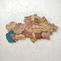 Карта Казахстана Сувенирная 100 см с Каспийским морем.