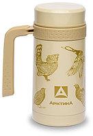 Кружка-термос ARCTICA с ручкой (0,5л)(10ч)(ситичко)(металл)-птицы, R 84714