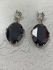 Комплект серьги и кольцо black Sworovski