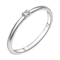 Кольцо серебряное с фианитом Modest