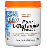 Doctor's Best, чистый L-глютамин в виде порошка, 300 г (10,6 унции)