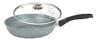 Сковорода 24 см, фисташковый мрамор (Кукмара, Россия)