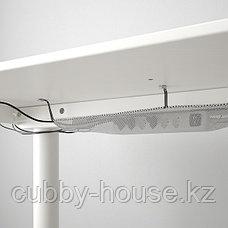 БЕКАНТ Стол/трансф, дубовый шпон, беленый, белый, 120x80 см, фото 2