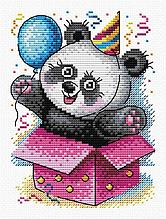 Набор для вышивания крестиком на канве от торговой марки  М-598 «С днем рождения!»