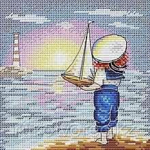Набор для вышивания крестиком на канве «В дальний путь»