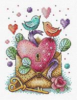 Набор для вышивания крестиком на канве от торговой марки «День влюбленных».