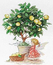 Набор для вышивания крестиком на канве  НВ-547 «Лимонная фея».