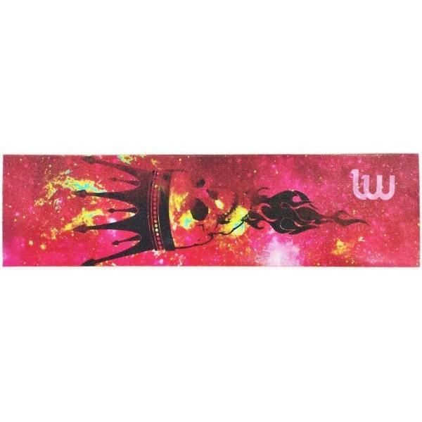 Шкурка для деки Longway  Skull King Red griptape160*580 mm