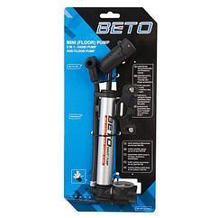 Насос BETO mini w/rotable gauge/metal footpad, silver/black