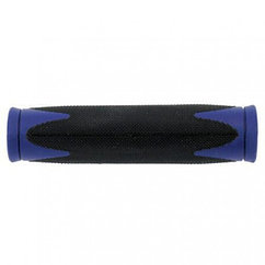 Ручки руля grip VELO, 2-component-grip, soft D2-mixture 130 mm, black/blue