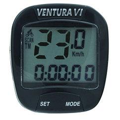Велокомпьютер провод VENTURA-III, 6 functions черный