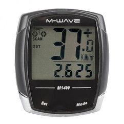 Велокомпьютер беспроводной M-WAVE, 14 functions