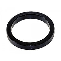 "Кольцо проставочное Messingschlager 1.1/8"", alloy, black, 5 mm"