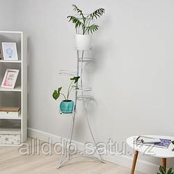 Подставка для цветов «Стелла-7», d=20 см, цвет белый