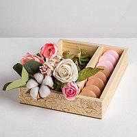 Ящик-кашпо подарочный «Поздравляю», 27,5 × 20 × 5 см