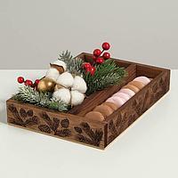 Ящик-кашпо подарочный «Новогодняя сказка», 25,5 × 20 × 5 см