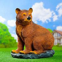 """Садовая фигура """"Медведь на камне"""" 50*37*57см"""
