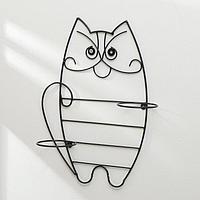 Подвес для кашпо настенный «Кот», на 2 кашпо, d = 12 см