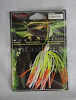 Блесна для рыбалки KAIDA оранжево-белый