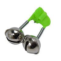 Звуковой сигнализатор поклёвки на удочку с креплением-прищепкой колокольчики 4,5х5 см