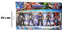 Мстители (Avengers) набор фигурок (Капитан Марвел, Веном, Капитан Америка, Танос, Человек Паук)