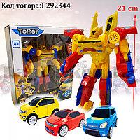Игрушка детская трансформер Тобот Мини Тритан 3 машинки Tobot Mini Tritan в ассортименте