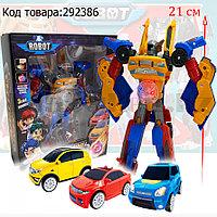 Игрушка детская трансформер Тобот Мини Тритан 3 машинки со световым эффектом Tobot Mini Tritan