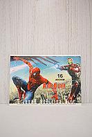 Детский альбом с 3D элементами 820-16-70AT Человек Паук и Железный Человек Марвел 16 листов