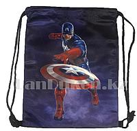 Мешок для обуви тканевый 42.5х34 Капитан Америка MARVEL голубой