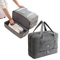 Водоотталкивающая сумка для путешествий трансформер непромокаемая серая