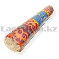 Коврик для йоги и фитнеса (йогамат) 5 мм 61х173 см с восточным узором разноцветный