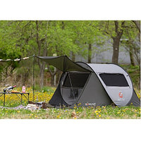 Палатка-автомат быстросборная ROTI CAMP One touch pop-up (Светло-серая / 3-местная)