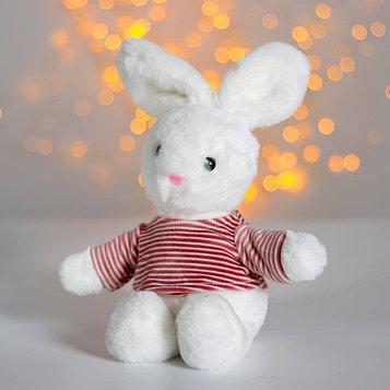 Мягкая игрушка «Зайчик в полосатой кофте»