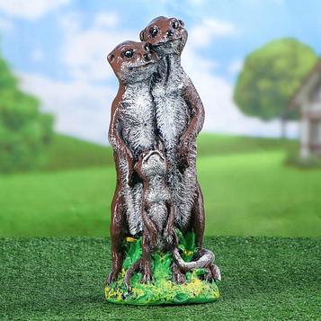 """Садовая фигура """"Суслики семья"""", разноцветный, 37 см"""