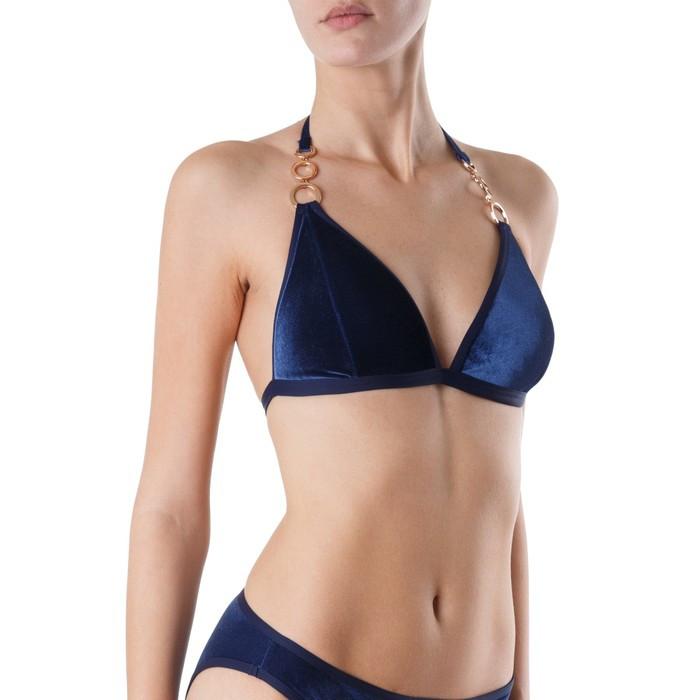Бюстгальтер купальный женский, размер 80D, цвет синий - фото 2