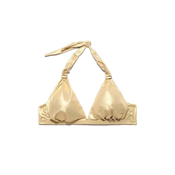 Бюстгальтер купальный женский, размер 80B, цвет золотой - фото 2