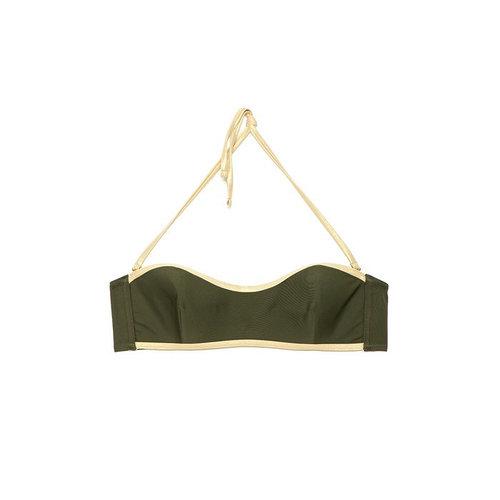 Бюстгальтер купальный женский, размер 80B, цвет оливковый