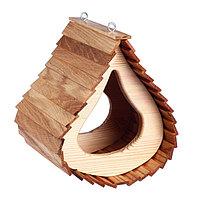 Кормушка «Капля», 220 × 220 × 280 мм, материал: дуб, сосна; покрытие: масло