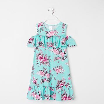 Платье «Жасмин» для девочки, цвет бирюзовый, рост 98 см