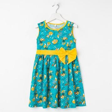 Платье для девочки, цвет бирюзовый, рост 104 см