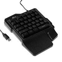 УЦЕНКА Клавиатура Ritmix RKB-209 BL Gaming, игровая, проводная, мембранная, подсветка, USB, черная 5