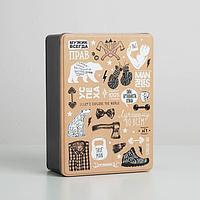 Коробка жестяная подарочная «Брутальность», 26 х 18,5 х 9 см