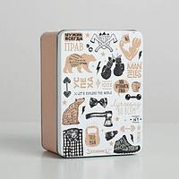 Коробка жестяная подарочная «Брутальность», 15 х 11 х 7 см
