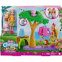 Игровой набор «Челси в Джунглях» с куклой блондинкой, щенками и аксессуарами