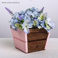 Кашпо флористическое трапеция, палисандр, розовый, 13 × 13 × 10 см