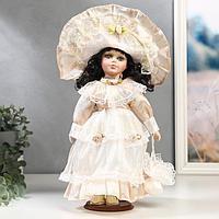 """Кукла коллекционная керамика """"Маленькая мисс в нежно-розовом платье"""" 30 см"""