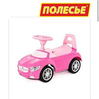 """Каталка-автомобиль """"SuperCar"""" №1 со звуковым сигналом (розовая)"""
