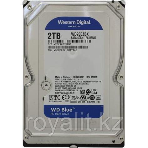"""Жёсткий диск HDD 2 Tb SATA 6Gb/s Western Digital Blue WD20EZBX  3.5"""" 7200rpm 256Mb, фото 2"""